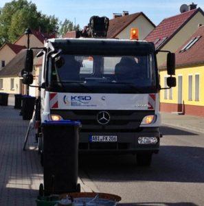 Fahrzeug der KSD Köthen am Einsatzort