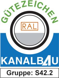 Logo: Gütezeichen Kanalbau