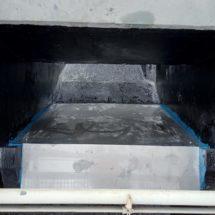 Schlussbeschichtung, Sandfang Kläranlage in Annaburg